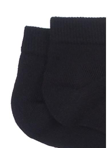 Mavi 3Lü Patik Çorap Seti Siyah